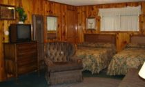Jesse James Authentic Lodge Style Room at Mountain Shadows Lodge Red River, New Mexico